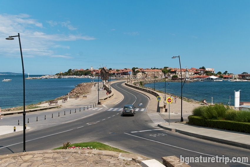 """View of the Nessebar Peninsula - the """"Old Town"""" and the isthmus"""
