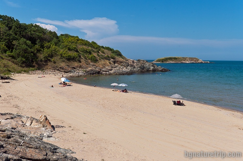 The northern part of Arkutino Beach - wild and unguarded