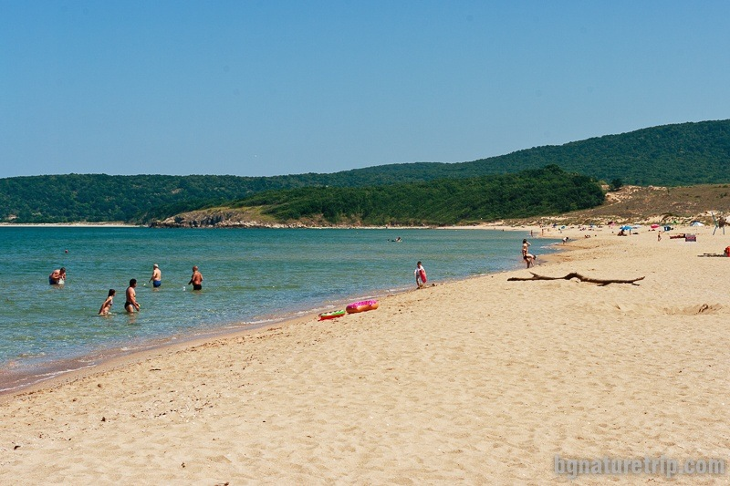 In the southern part of Arkutino Beach is the other unguarded area