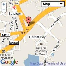 Cardiff Map