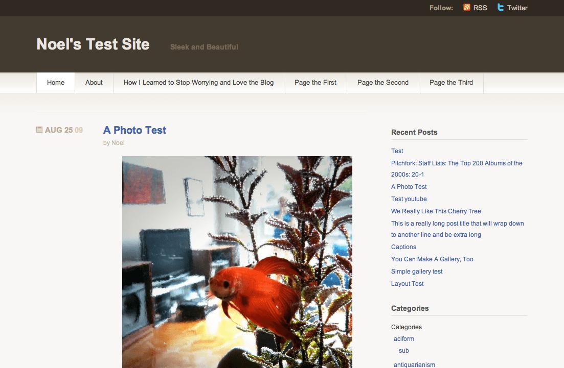 WordPress.com Titan テーマ