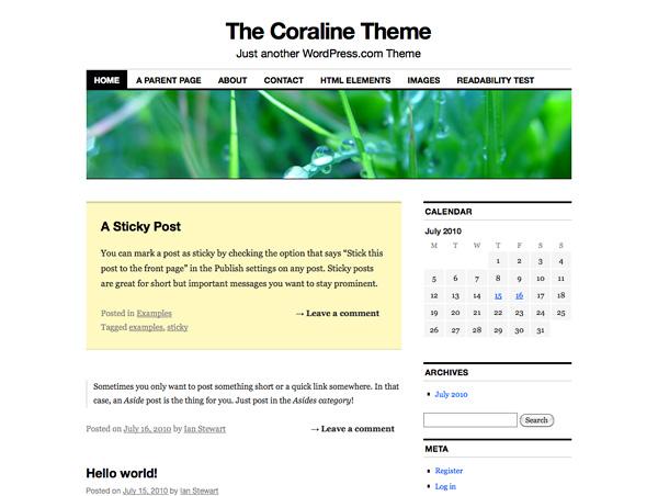 New Theme: Coraline