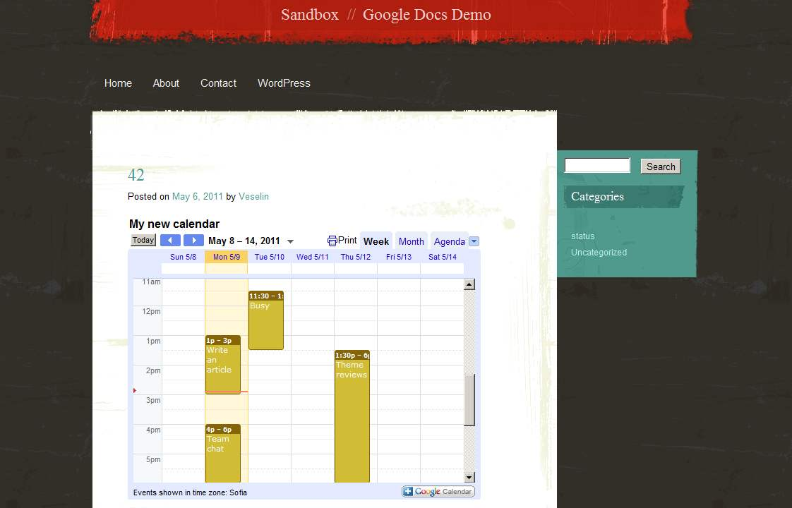 Now share Google Docs and Google Calendars