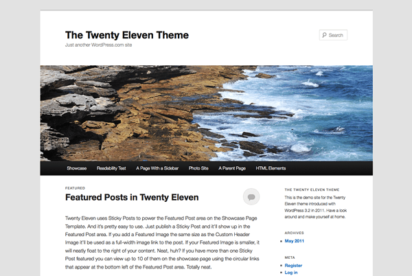 New Theme: Twenty Eleven