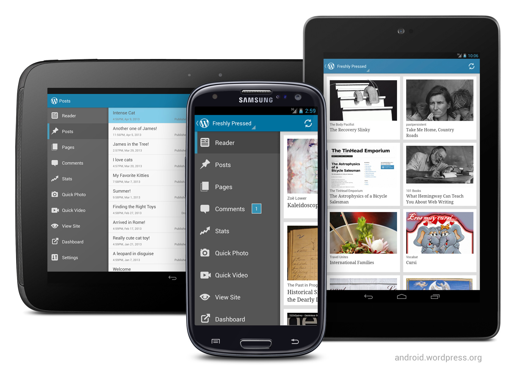 Version 2.3 of WordPress for Android: big UI update for the best Android blogging app
