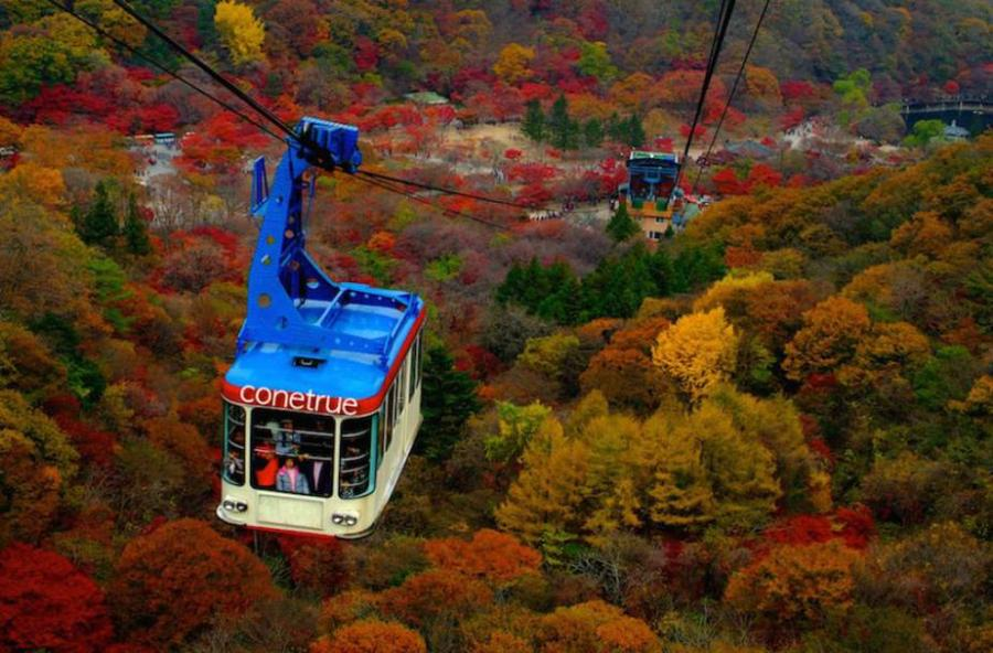 Fall in Korea: Naejangsan National Park Cable Car Ride