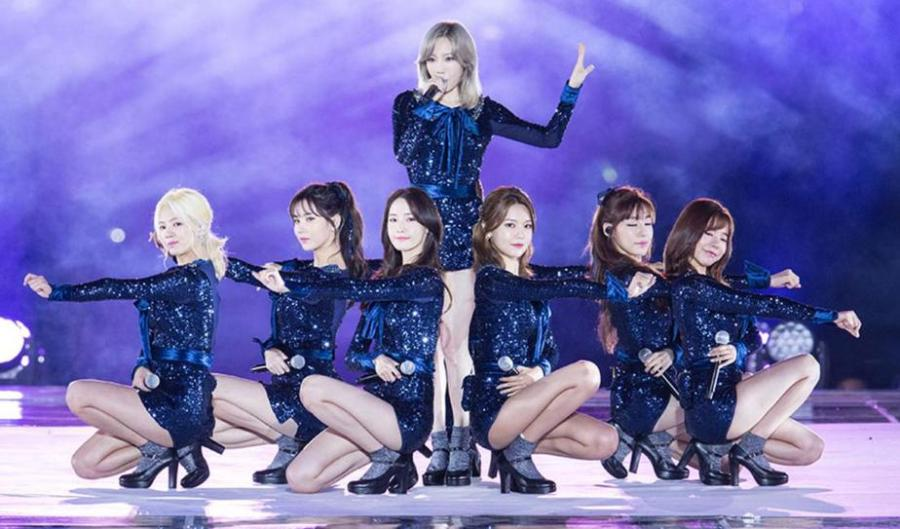 Girls' Generation performing at the 2016 Busan One Asia Festival Opening Ceremony