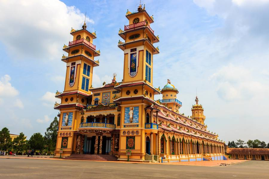 Book a tour to visit the Cao Dai Temple