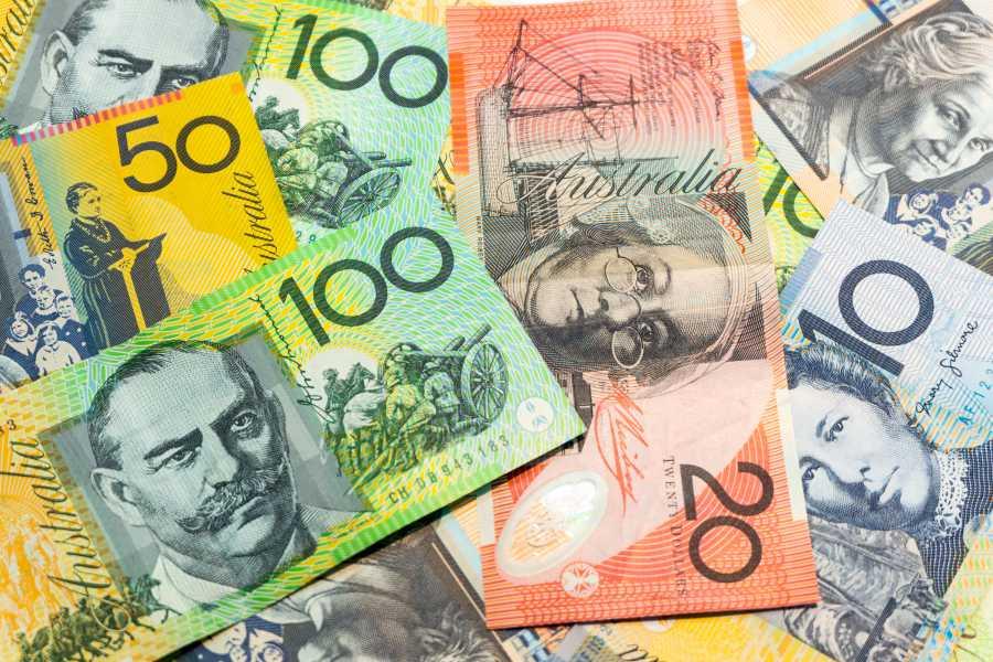 Australian dollars (image via Shutterstock)
