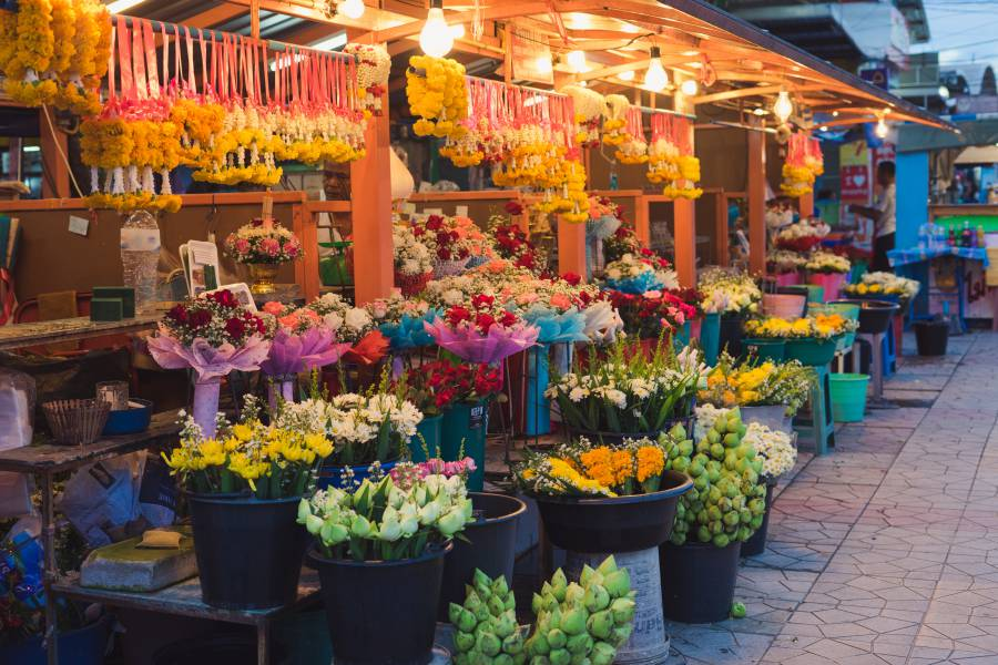 Flower Market: Bangkok, Thailand