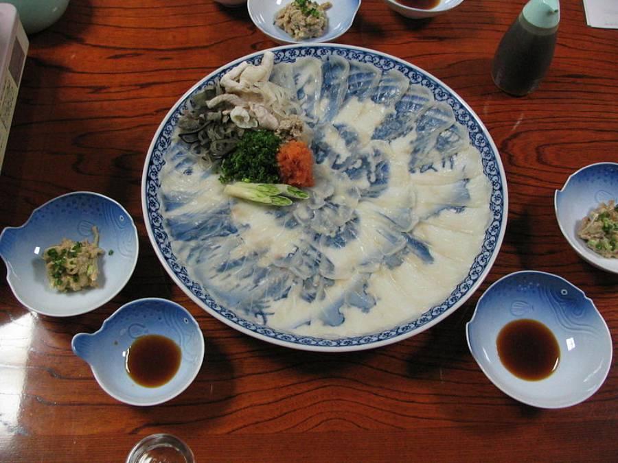 Fugu Sashimi with Liver