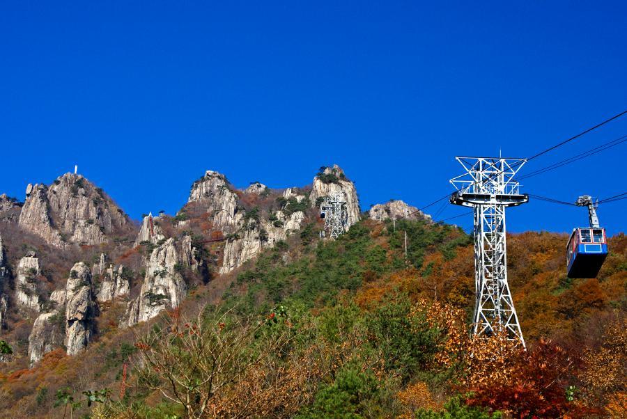 Fall in Korea: Daedunsan National Park Cable Car Ride