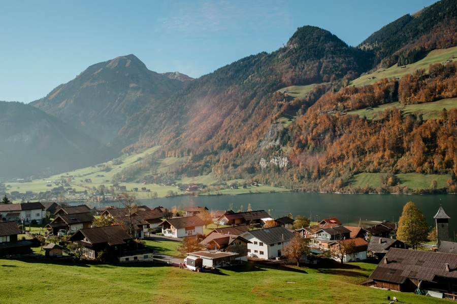 Scenic Landscape of Switzerland Valley Via Scoutori