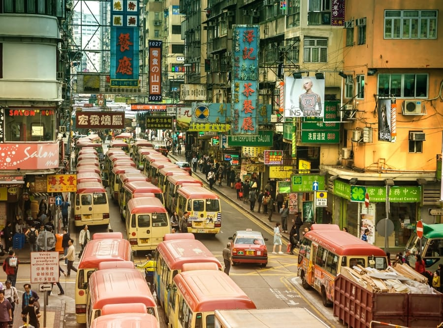 Old Street in Hong Kong