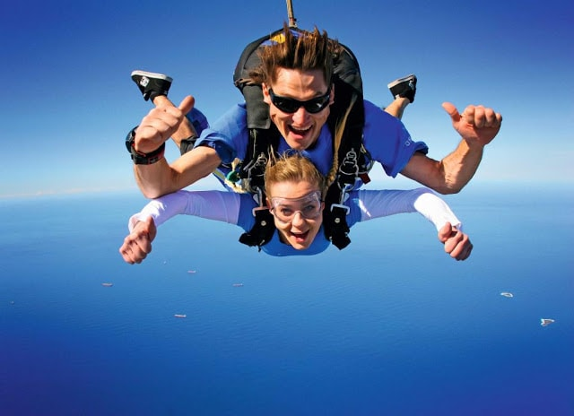 Do something crazy like skydiving!