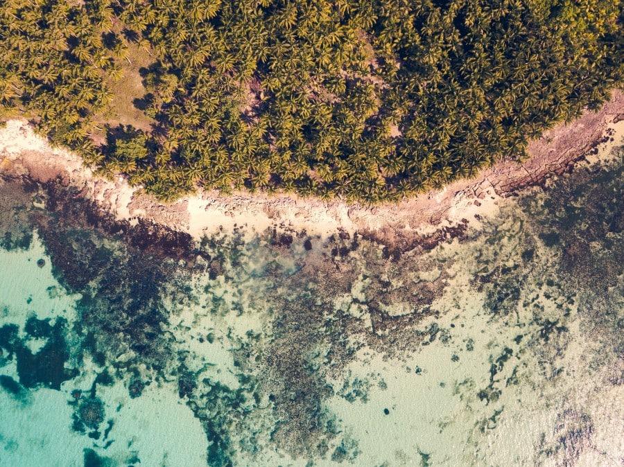 Daku Island beach landscape