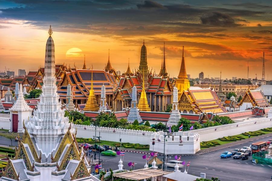 Bangkok grand palace landscape