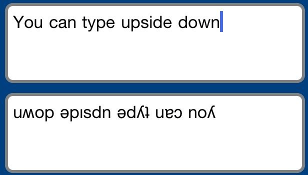 How to Upside down text