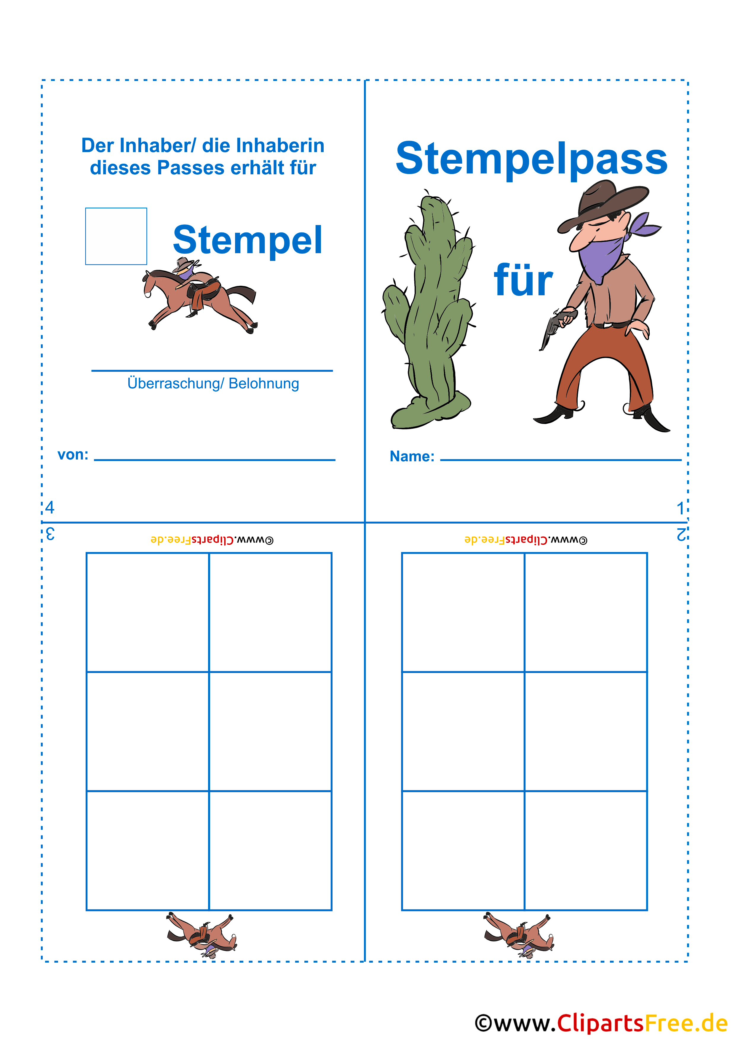 Stamp Card Pattern For Kids