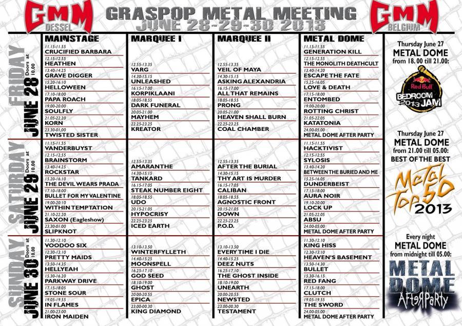 Agenda Concerts Metal Graspop Metal Meeting 2013 2806