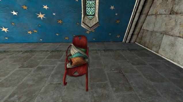 red long chair 1
