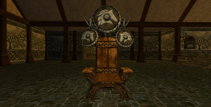 Rohirric Chair and Large Shield