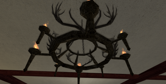 Big Rohirric Antler Chandelier