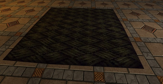 Small Woven Brown Rug