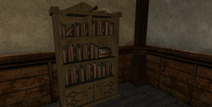 Scholar's Pointed Bookshelf