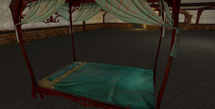 Red Canopy Bed