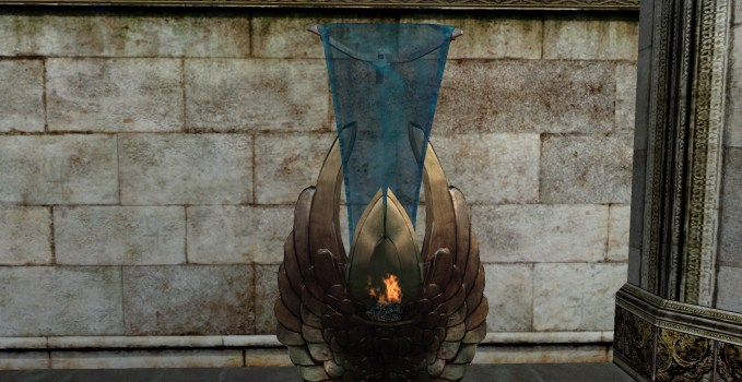 Ornate Gondorian Wall Brazier