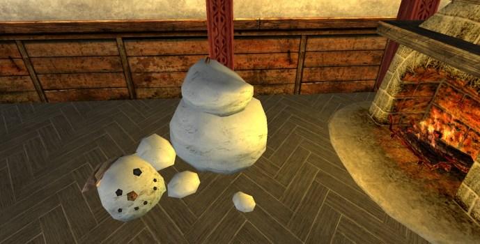 Unhappy Snowman