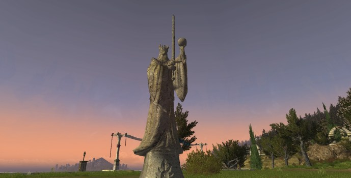 Orb and Sword Statue