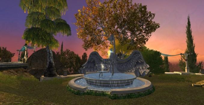 Huge Swan Fountain