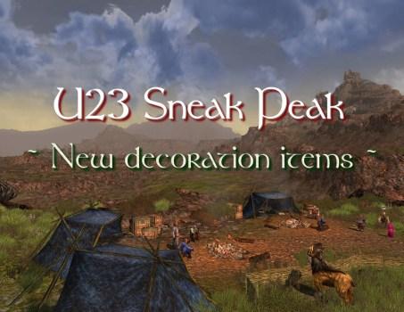 U23 Sneak Peak : New decoration items !