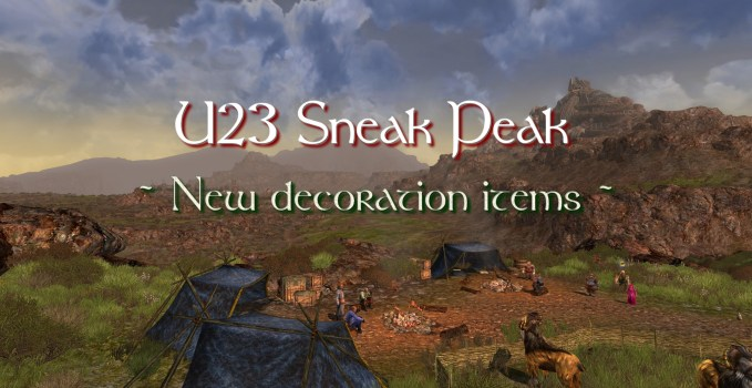 U23 Sneak Peak : New decoration items !