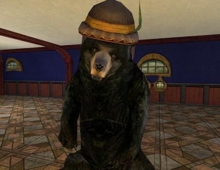 Black Bear with League Hat