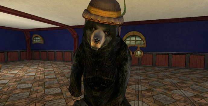 Black Bear with League Hat