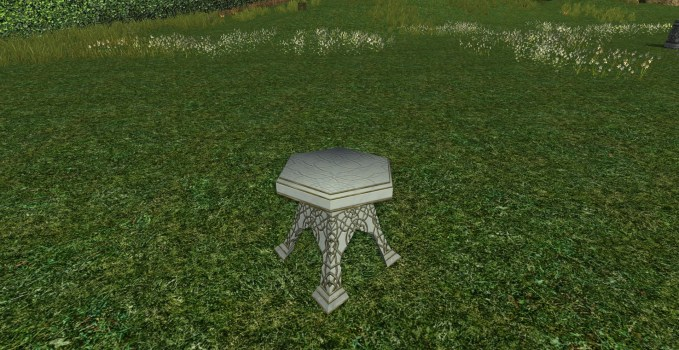 Alabaster Garden Table