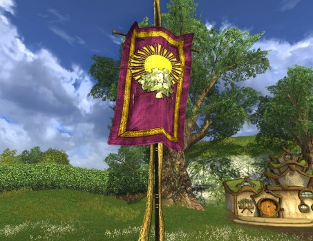 Purple Summer Party Banner