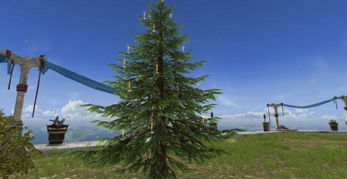 Celebratory Outdoor Winter Tree