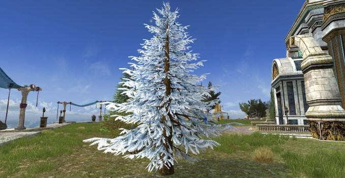Silver Celebratory Outdoor Winter Tree