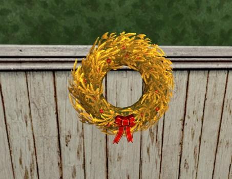 Golden Yule-Wreath