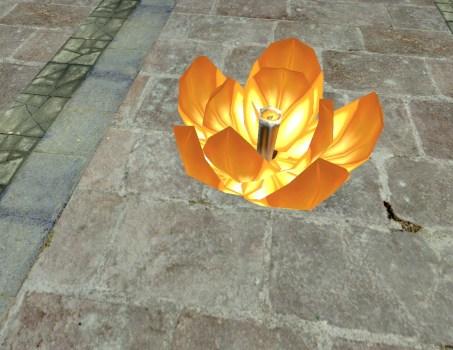 Floating Lantern – Half-Open