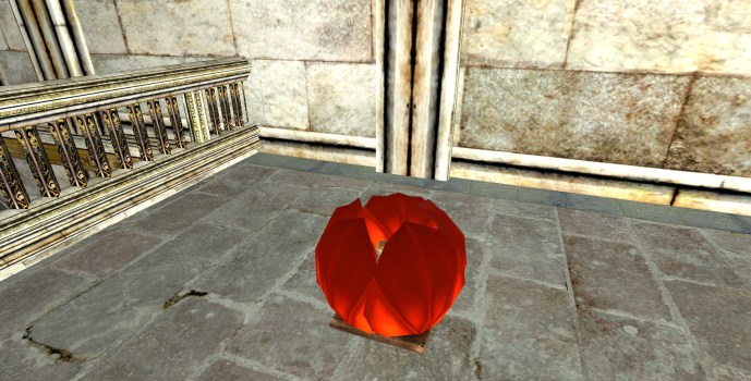 Red Floating Lantern – Closed