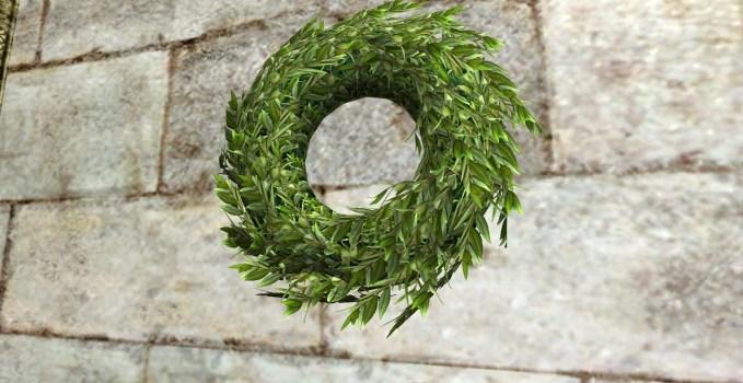 Green Midsummer Wreath