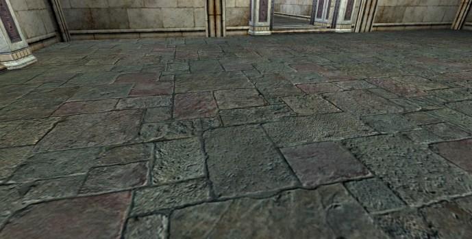 Grey Flagstone Floor