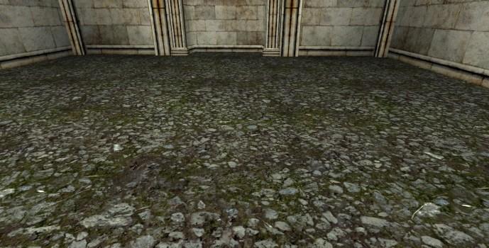 Dense Gravel Floor