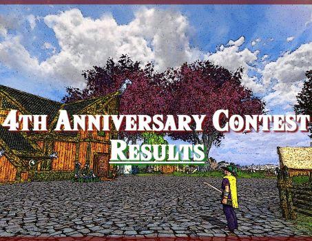 4th Anniversary Contest : Results