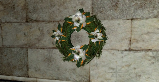 White Poinsettia Wreath